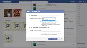 Impostazioni della privacy in Facebook