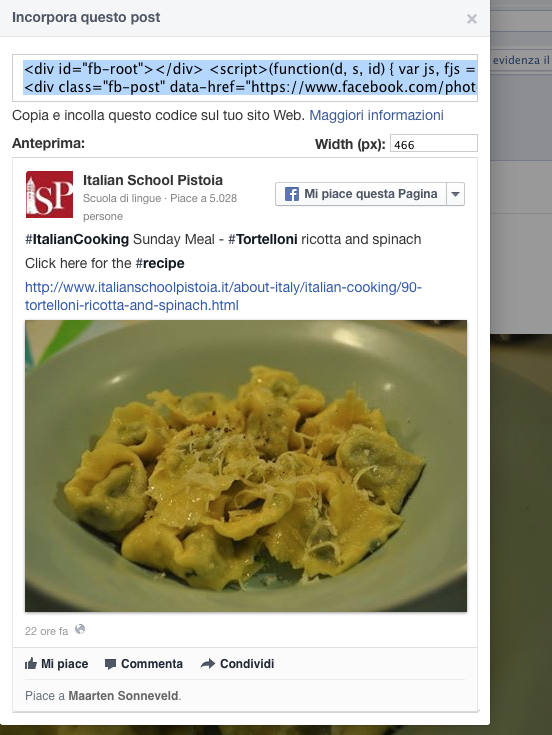Pagina Facebook - Incorpora Like Box