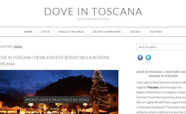 Dove in Toscana | Posizionamento, realizzazione sito e copywriting